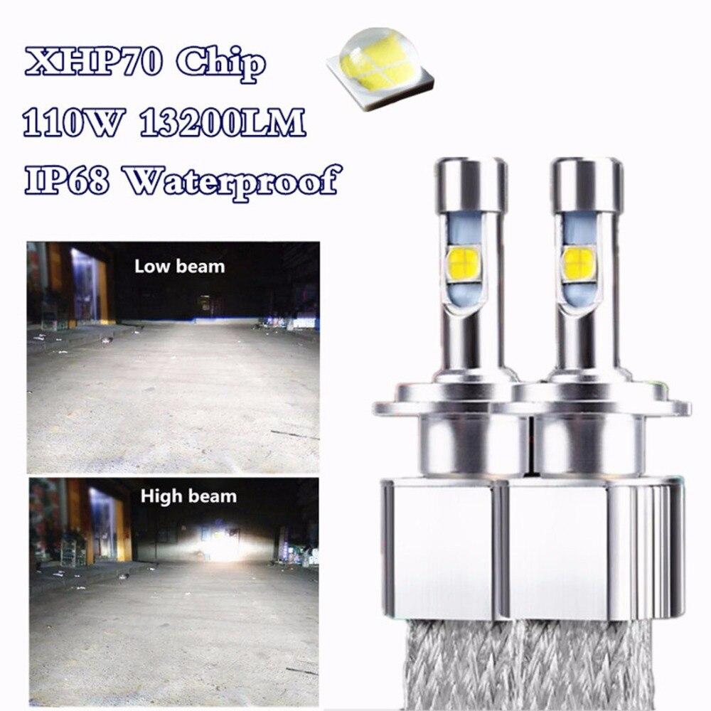 2X D1S D2S Car styling LED Headlight lamp XHP 70 chip Auto Kit Fog Bulb Headlamp