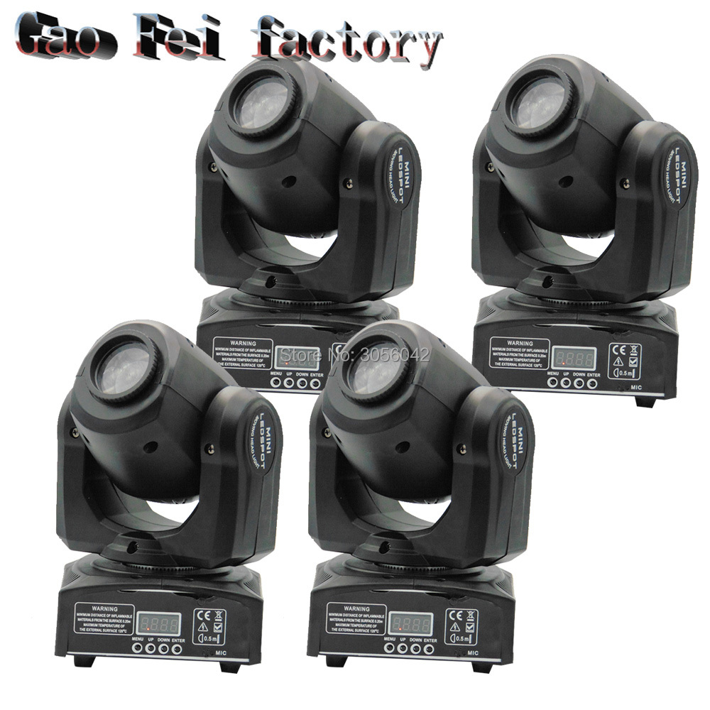 4pcs/lot 10W LED Spot Moving Head Light/ dj controller LED lamp Light 10W Beam led moving head lights super bright LED DJ disco 4pcs lot 10w led mini moving head beam light 4 in 1 rgbw led moving head for party lights led dj lights