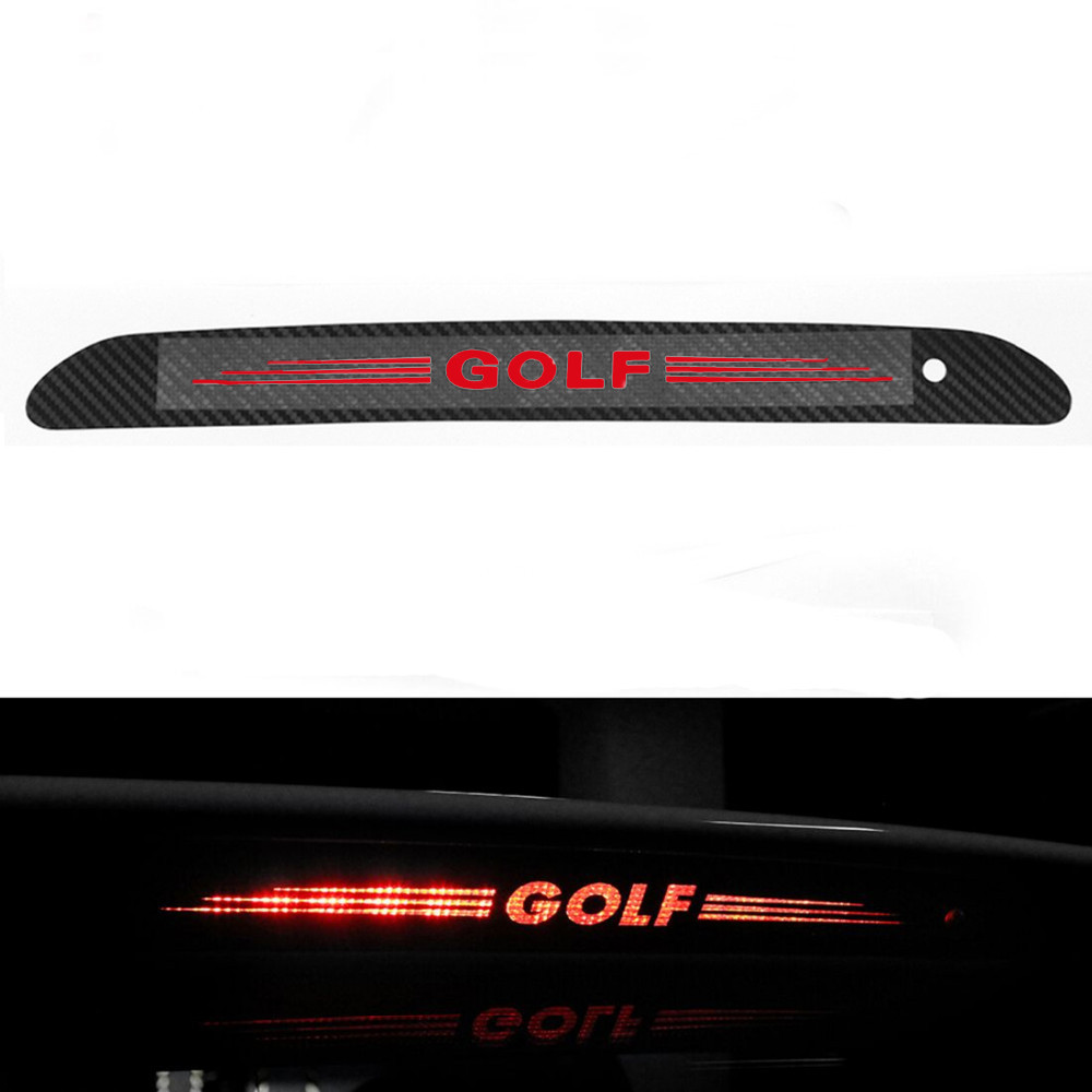 New Styling <font><b>Carbon</b></font> Fiber Brake light Sticker Car Decorative Cover For <font><b>Volkswagen</b></font> Vw <font><b>Golf</b></font> 6 Mk6 <font><b>Golf</b></font> <font><b>7</b></font> New Arrival image
