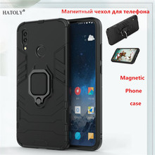 Huawei P Smart 2019 Case Huawei P Smart 2019 Back Cover TPU+ PC Magnetic Phone Case Cover P Smart 2019 Finger Ring Case Capa все цены