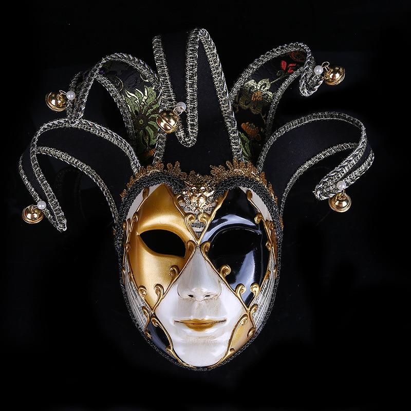 Masquerade Masks Decorations Ideas: Halloween Venetian Masquerade Mask Clown Mask Women Show