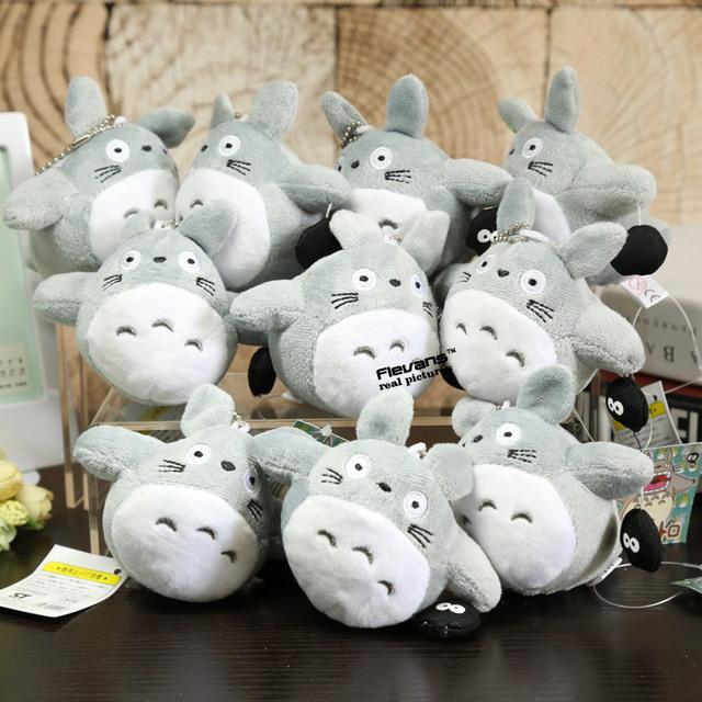 "Studio Ghibli My Neighbor Totoro – Totoro Plush Keychain Toys  4"" 10cm – 2 Styles Available"