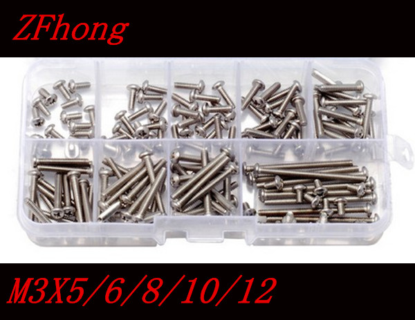 500pcs/lot DIN7985 Stainless Steel 304 M3 Phillips Pan Round Head Machine Screw kit m3*5/6/8/10/12 500pcs lot din7985 stainless steel 304 m3 phillips pan round head machine screw kit m3 5 6 8 10 12
