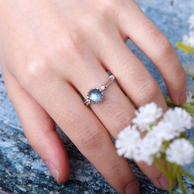 Adjustable Ring - Labradorite - S925 5