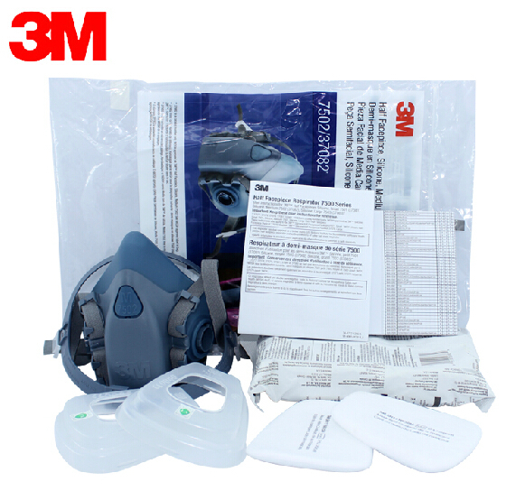3m 7502 Respirator Half Facepiece Reusable Respirator Mask Ammonia Methylamine Organic Vapor Cartridges Filters Fire Respirators Fire Protection