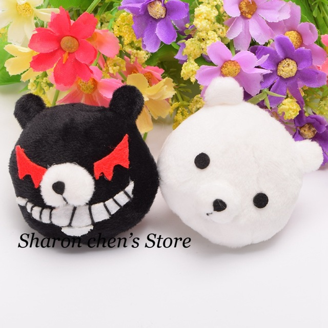 Anime Hairpins Cosplay Girls White Black Bear Hairclips Enoshima