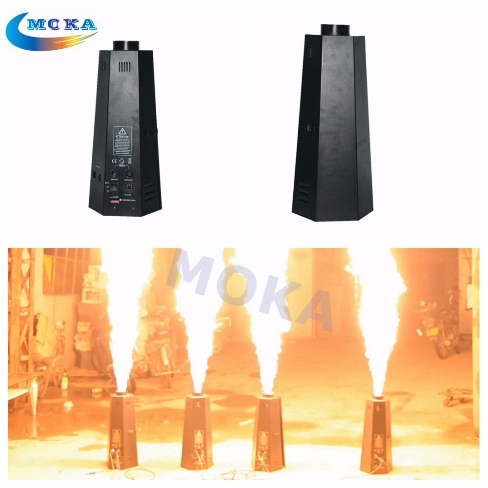 200W 8PCS/lot Spray Fire Machine Dmx Flame Projectors Stage Effect Equipment Flame Machine For DJ Bar Party Wedding