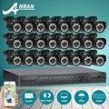 ANRAN 24CH Видеонаблюдения AHD Система 1080N HDMI DVR 720 P 1800TVL ИК Открытый Комплект Камеры Главная Цифровой Видеорегистратор Камеры ВИДЕОНАБЛЮДЕНИЯ комплект