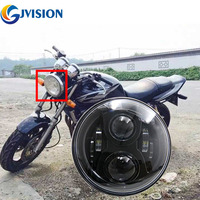 Free Shipping Black Motorcycle Led Headlight 7 Inch 75W High Low Beam For Honda CB400 CB500