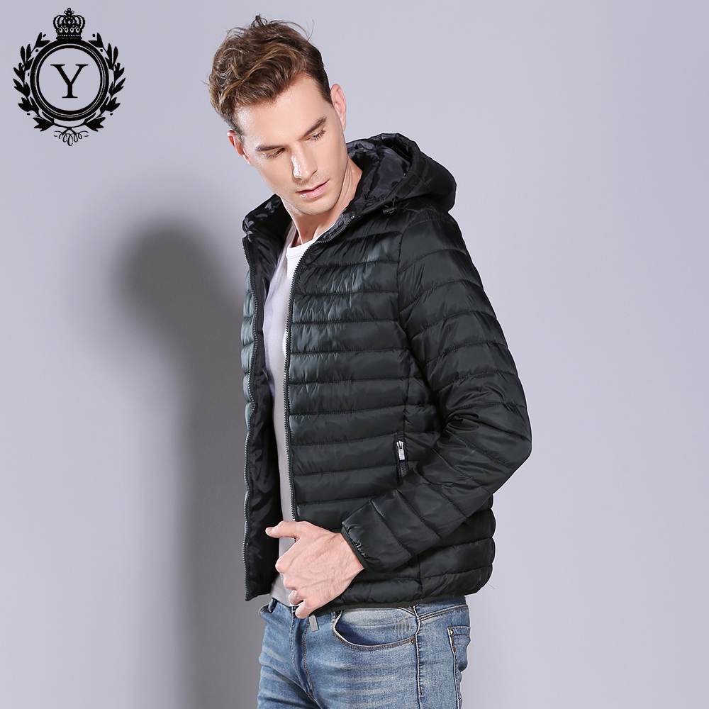 Winter Jacket Men Brand Clothing Slim Warm Mens Hooded Jacket & Coats Male Fashion Outwear Cotton Padded Quilted Puffer Jacket