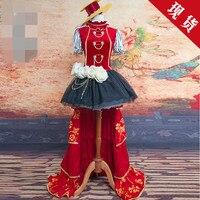 Lovelive сказка wwakening Nishikino Маки платье Спящая Красота Рождество осень Косплэй костюм платье o