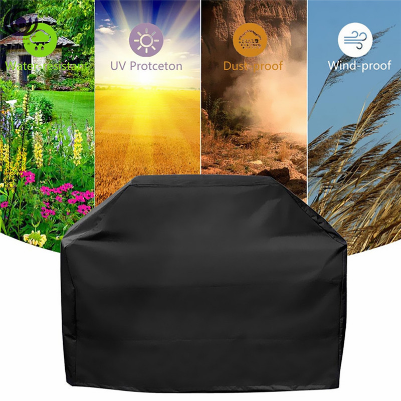 Black Waterproof BBQ Cover Accessories Grill UV Protection Anti Dust Rain Gas Charcoal Electric Barbeque 5 Sizes Barbecue in Covers from Home Garden
