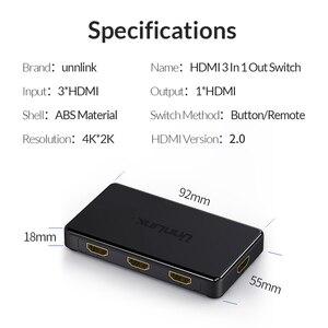 Image 5 - Unnlink HD MI 스위치 3x1 5x1 HD MI 2.0 UHD4K @ 60Hz 4:4:4 HDCP 2.2 HDR 3 In 1 스마트 tv mi box3 ps4pro xbox one xs 프로젝터