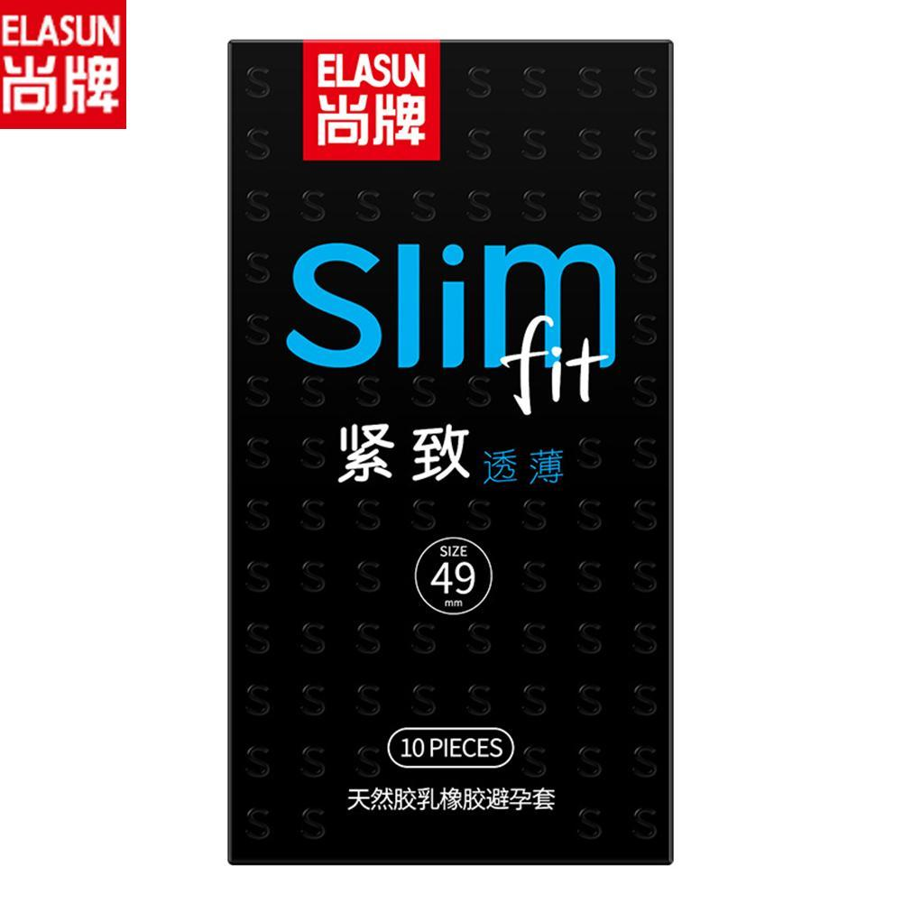 Elasun Condoms 10pcs pack Slim Tight Contraception Condoms For Men Ultra thin penis sleeve Adult latex Lubricating Condones sex in Condoms from Beauty Health