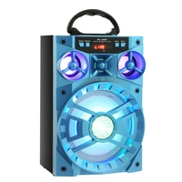 Portable Multi Functional Bluetooth Speaker Big Drive Unit LED Display Screen Bass Colorful Backlight FM Radio