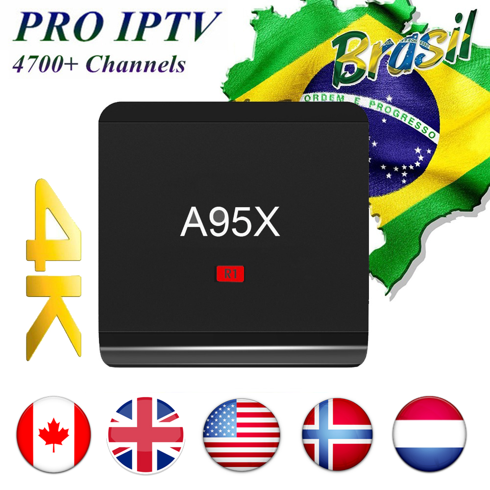 A95X-R1 2018 World Cup Android TV Box Brazil IsraeI Nordic France S905W 1GB/8GB HDMI 2.0 Smart TV Box 4800+ Channels World IPTV
