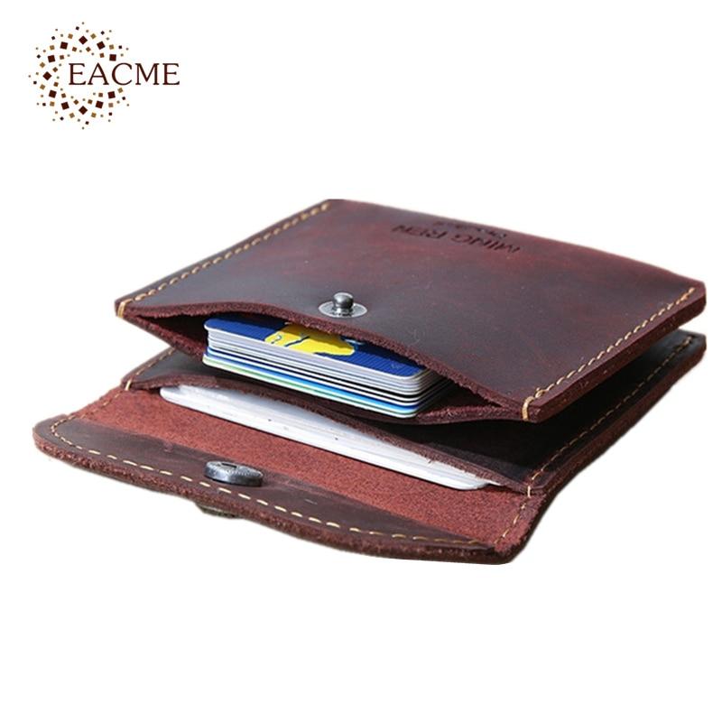 38314662919 Handgemaakte Retro Koeienhuid Kleine Kaart Portemonnee Mannen Creditcard  Case Business Bankkaart Gevallen Billfold Cash Coin Pocket Hasp Kaarten  Pack in ...
