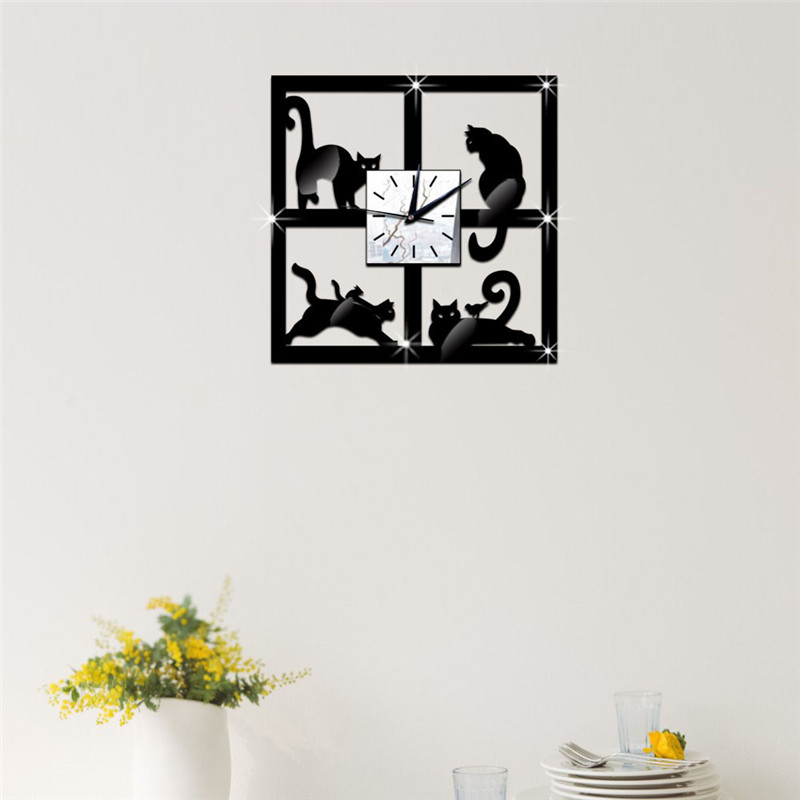 zwarte spiegel klok-koop goedkope zwarte spiegel klok loten van ... - Spiegel Modern