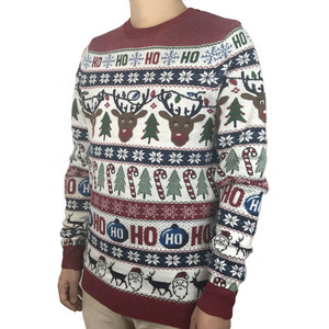 Image 4 - Washable Funny Light Up Ugly Christmas Sweater for Men Cute Reindeer Santa Claus Knitted Xmas Pullover Jumper Plus Size S 2XL