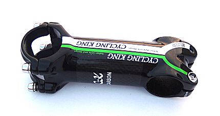 Special free shipping hot 2015 cycling king c-k green stem alloy + 3k carbon fiber moutain road bike stem 100% original