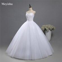 ZJ9022 корсет на шнуровке бисер без бретелек Кристалл Милая Кружева белые свадебные платья для невест размера плюс Макси Формальные