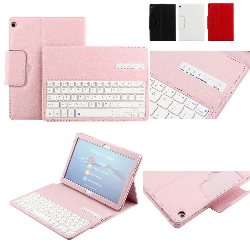 For Huawei MediaPad M3 Lite 10 BAH-W09 BAH-AL00 10.1 inch Tablet Detachable ABS Bluetooth Keyboard PU Leather Case Cover luxury pu leather cover business with card holder case for huawei mediapad m3 lite 10 10 0 bah w09 bah al00 10 1 inch tablet