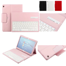 For Huawei MediaPad M3 Lite 10 BAH-W09 BAH-AL00 10.1 inch Tablet Detachable ABS Bluetooth Keyboard PU Leather Case Cover