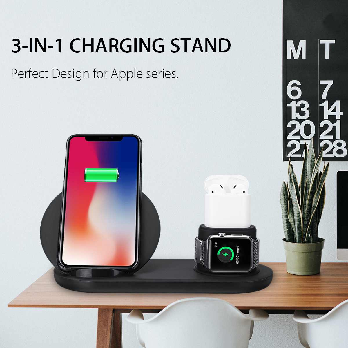 Electronics - 3 in 1 Wireless Charger Dock Station