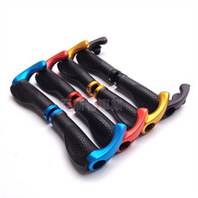 Free shipping Bicycle Lockable Handle Grip MTB Road Bike Handlebar grip Bicycle Grips Bicycle Accessories Aluminum + Rubber