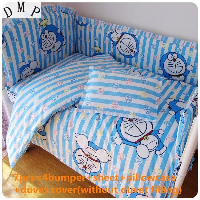цена на Discount! 6/7pcs 100% cotton bedclothes newborn baby Bedding Set Unpick ,120*60/120*70cm