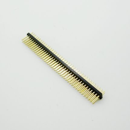 5PCS Gold Plated Pitch 1.27mm 2x50 Pin 100 Pin Double Row Male Pin Header Strip Straight Needle Connector 5pcs pitch 2 54mm 2x40 pin 80 pin double row right angle male pin header strip connector
