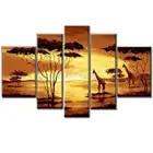 Top artiste fait à la main de haute qualité Art mural moderne peinture à l'huile sur toile belle or paysage africain peinture à l'huile - 1