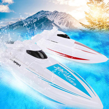 Remote Control Boat Waterproof Toy Electric 2.4G Remote Control High Speed Speedboat Children's Athletic Toy Ship Model Gift цена