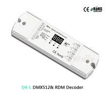 D4-L 4CH CV DMX512 decoder 12-36V 5A & RDM Decoder 5A*4CH output with display for setting dmx address