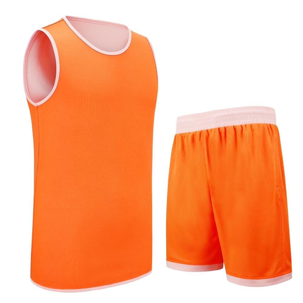 SANHENG Mens Reversible Basketball Jersey Shorts Competition Uniforms Suit Quick-Dry Custom Jerseys 229