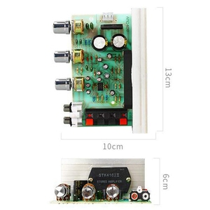Dx-0408 18 V 50 W + 50 W 2.0 قناة Stk فيلم سميكة سلسلة مكبر كهربائي مجلس