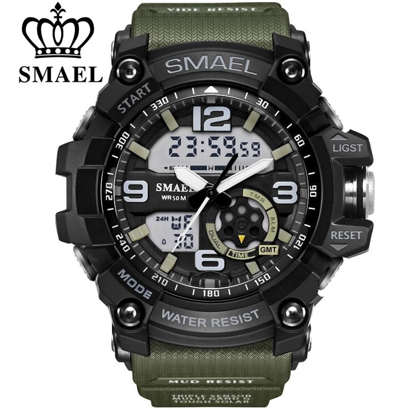 SMAEL Brand Men Sport Watch LED Digital Waterproof Casual Shock Male Clocks Relogios Masculino Men s