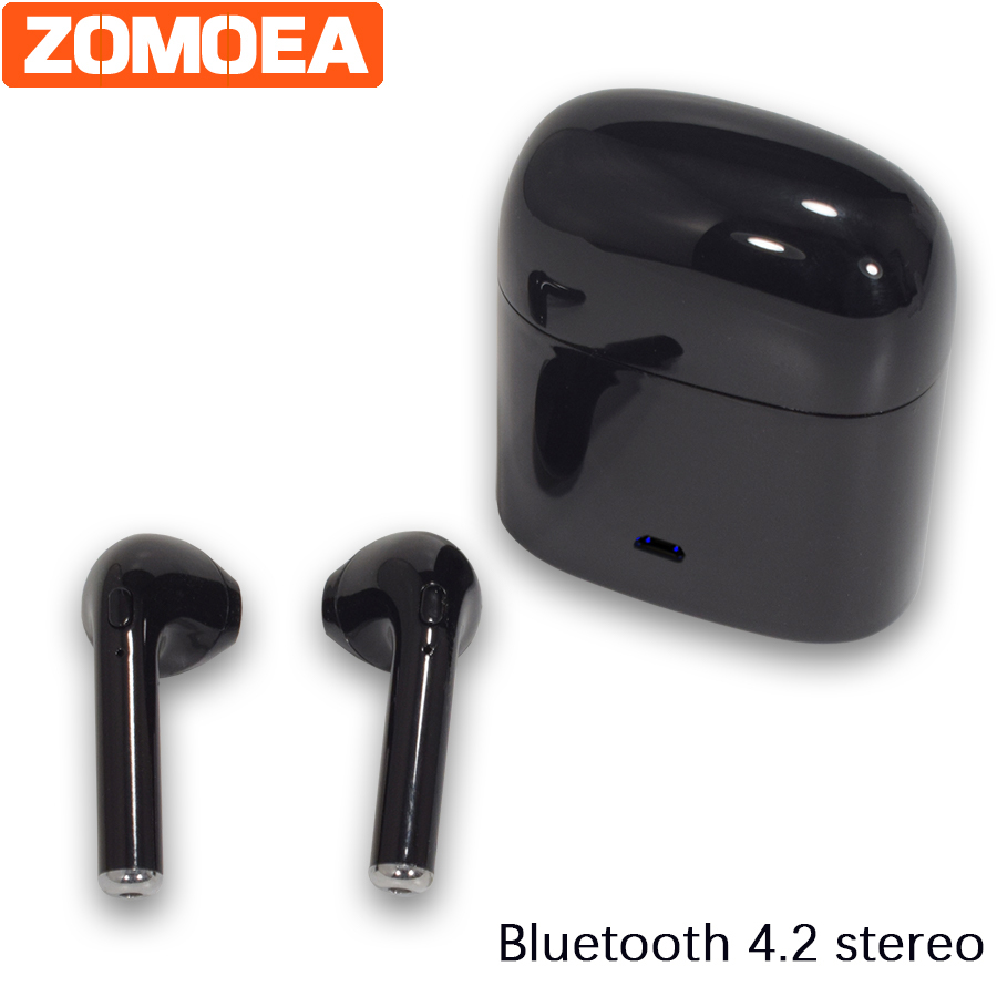 In-Ear Bluetooth 4.1 Earphone Headset Clarity Stereo Sound With Mic Earphones For iPhone android Mobile Phone MP3 Subwoofer AAAA ufo pro metal in ear earphones treadmill female drug sing karaoke audio headset diy mobile phone