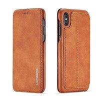 Flip Wallet กระเป๋าสตางค์หนัง Retro ออกแบบหนังสือแม่เหล็กสำหรับ iPhone XS MAX XR XS X 6 6S 6 PLUS 7 8 7Plus 8 PLUS JS0715-ใน เคสแบบพับ จาก โทรศัพท์มือถือและการสื่อสารระยะไกล บน