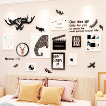 Creative INS antlers photo frame acrylic removable DIY Childrens room 3D home hotel KTV bar cinema decoration Wall Sticker