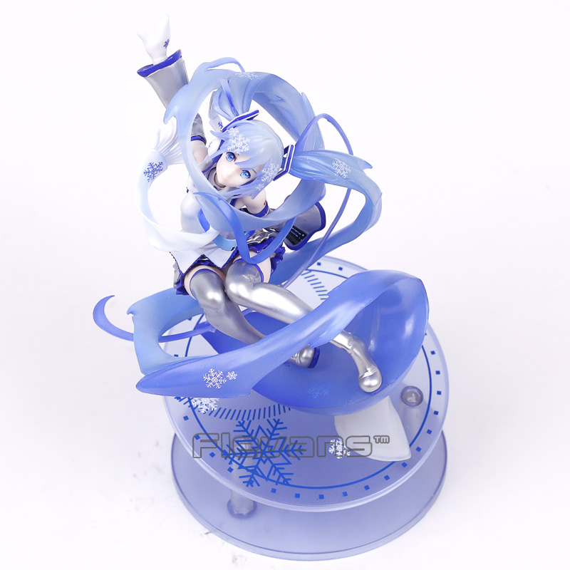 Hatsune Miku Snow Miku 15th Anniversary 1/7 Scale PVC Figure Collectible Model Toy 24.5cm card captor kinomoto sakura 1 7 scale painted figure 15th anniversary sakura doll pvc action figure collectible toy 26cm kt3366