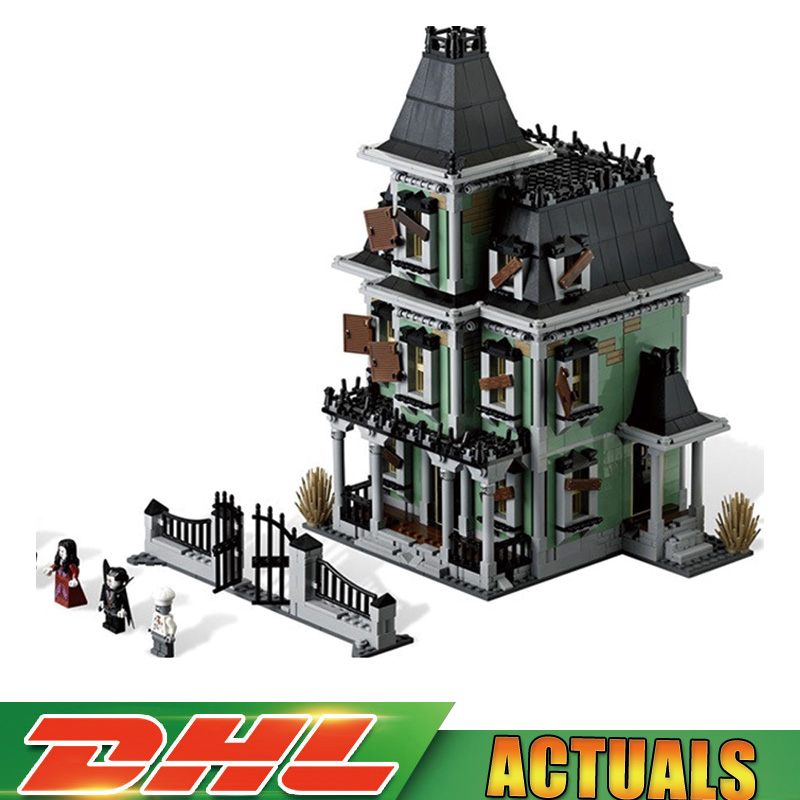 IN Stock LEPIN 16007 2141Pcs Monster fighter The haunted house Model set Building Kits Model Compatible Legoings 10228 корзина для бумаг erich krause сетчатая цвет светло серый 12 литров 3779