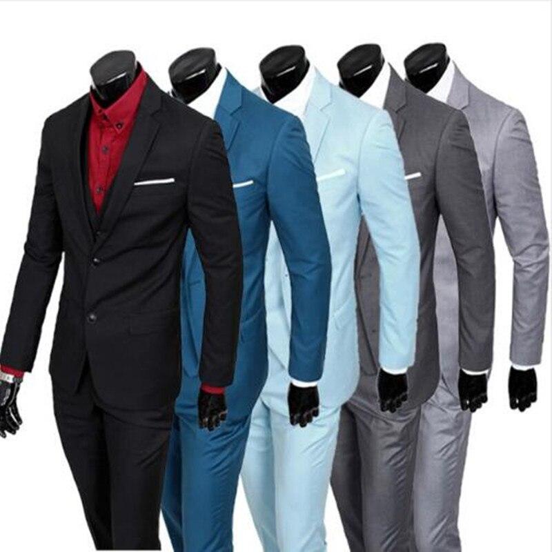 Jacket Pants Vest 2016 Men Suits Brand business Blazers Jacket Formal Dress Men Suit Set