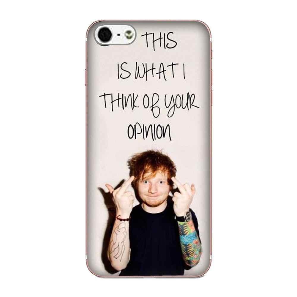 Caso de Hip Hop cantante famoso Ed Sheeran para Samsung Galaxy alfa Core nota 2 3 4 S2 A10 A20 A20E A30 A40 A50 A60 A70 M10 M20 M30