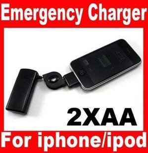 1pcs/lot Free shipping AA Battery Emergency Charger for iPod Touch iPhone 3GS