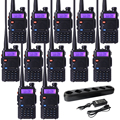 Baofeng UV5R Baofeng UV-5R Dual Band Walkie Talkie Com Carregador de 6 Vias 128 CH Walkie Talkie Rádio Amador Portátil