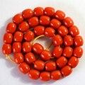 Laranja vermelho resina âmbar recém gems 9X9mm 10X10mm 12X12mm encantos barril solta pérolas jóias diy fazer 15 polegada B57