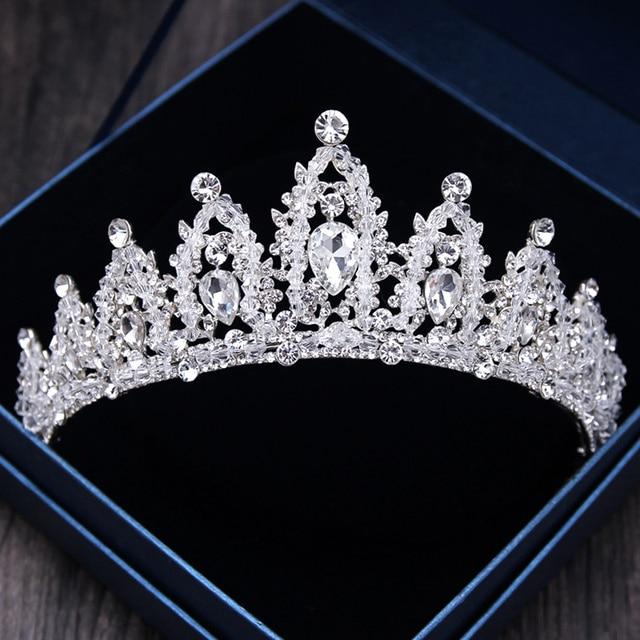 Diverse Silver Gold Crystal Crown Bride Tiara For Wedding 2