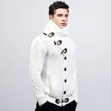 Sweater Men Turtleneck Cardigan Man Knitting Clothes 2018 Autumn Winter Long Mens Sweaters Turtle Neck Christmas Loose Coats