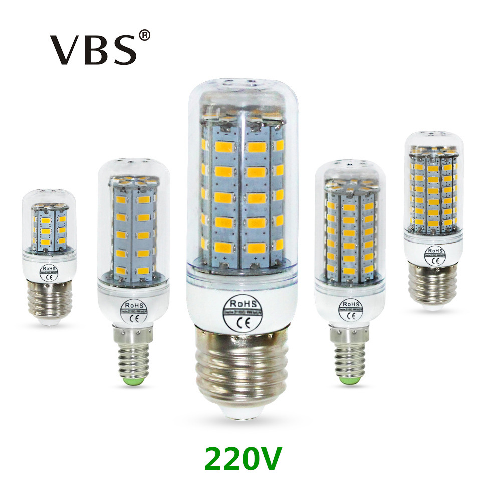 E27 E14 Led Bulb Corn Light SMD5730 220V 24 36 48 56 69leds LED Corn Bulbs Lamp Christmas Lampada LED Spotlight Indoor Lighting